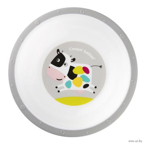 Тарелка пластиковая (с антискользящим дном)