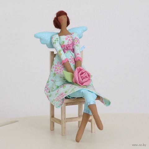 """Кукла ручной работы """"Ангел Цветов"""" (в голубом платье)"""