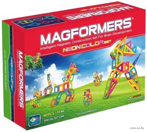 """Конструктор магнитный """"Neon color set 60"""" (60 деталей)"""