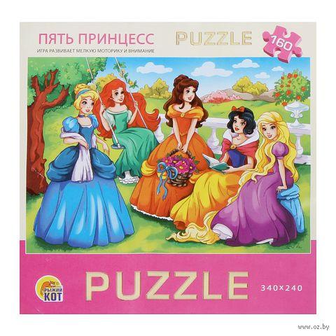"""Пазл """"Пять принцесс"""" (160 элементов; арт. П160-1707)"""