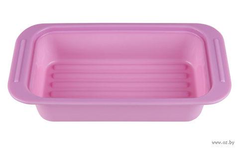 Форма для выпекания силиконовая (250х135х50 мм; лиловая) — фото, картинка