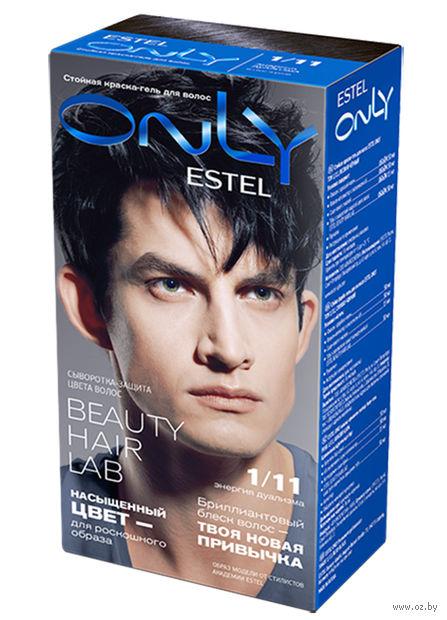 """Гель-краска для волос """"ESTEL ONLY"""" (тон: 1/11, иссиня-чёрный) — фото, картинка"""