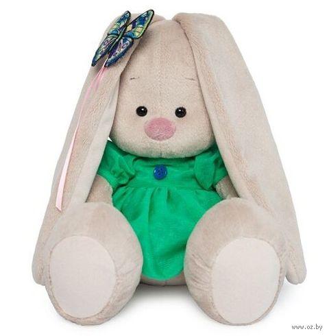 """Мягкая игрушка """"Зайка Ми в зелёном платье с бабочкой"""" (18 см) — фото, картинка"""
