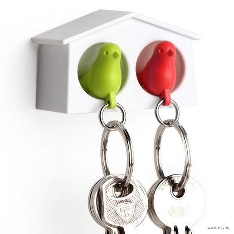 """Брелок-свисток и держатель двойной для ключей """"Mini Sparrow"""" (зеленый/красный)"""