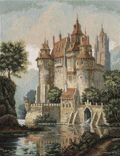 "Вышивка крестом ""Замок в горах"" (275х365 мм) — фото, картинка"