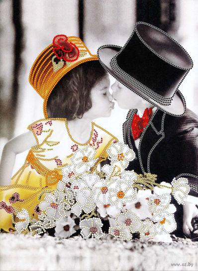 "Вышивка бисером ""Детский поцелуй"" (220х300 мм) — фото, картинка"