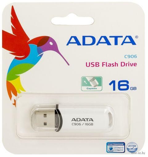 USB Flash Drive 16Gb A-Data Classic C906 (White) — фото, картинка