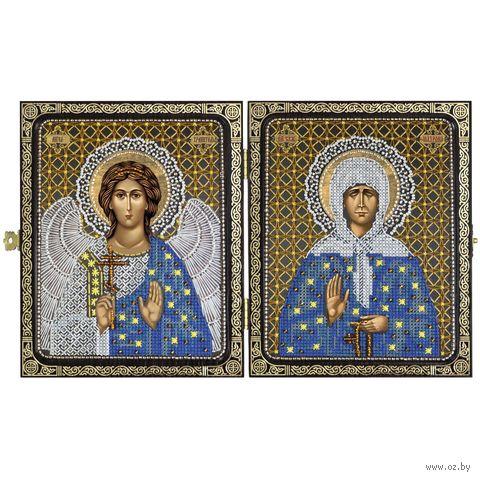 """Набор для вышивания """"Святая старица Матрона Московская и Ангел Хранитель"""" (230х140 мм) — фото, картинка"""