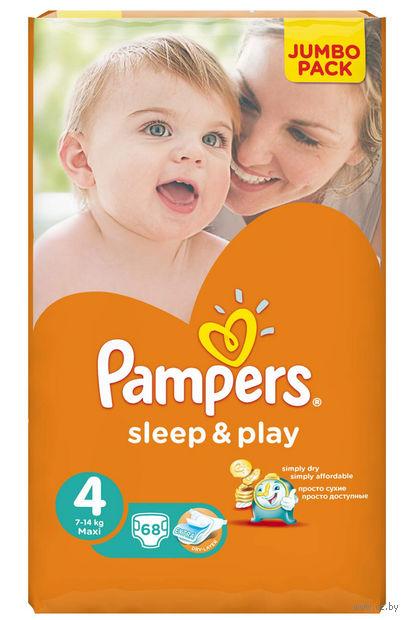 """Подгузники """"Pampers Sleep&Play Chamomile Maxi"""" (7-14 кг, 68 шт, арт. 0001010717)"""