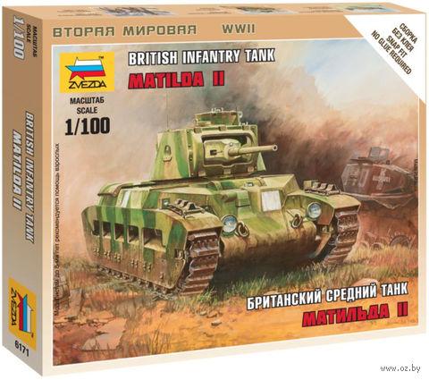 """Сборная модель """"Британский средний танк """"Матильда II"""" (масштаб: 1/100) — фото, картинка"""