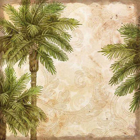 """Бумага для скрапбукинга """"Путешествие. Пальмы"""" (310х310 мм; 25 листов)"""