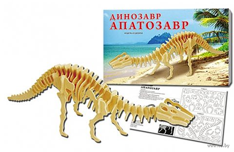 """Сборная модель из дерева """"Динозавр Апатозавр"""""""