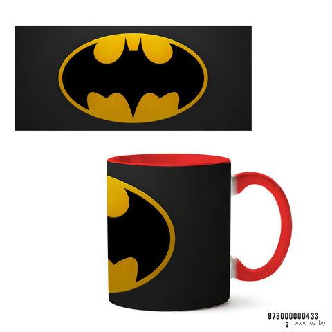"""Кружка """"Бэтмен из вселенной DC"""" (арт. 433, красная)"""