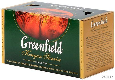"""Чай черный """"Greenfield. Kenyan Sunrise"""" (25 пакетиков) — фото, картинка"""