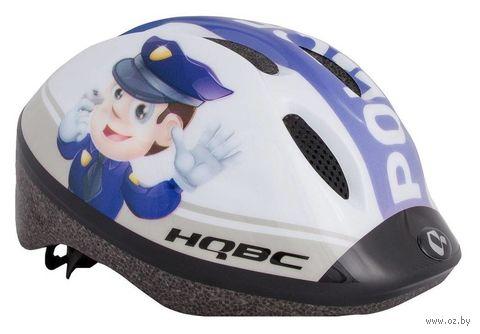 """Шлем велосипедный """"Funq Policeman"""" (белый; р. 48-54) — фото, картинка"""