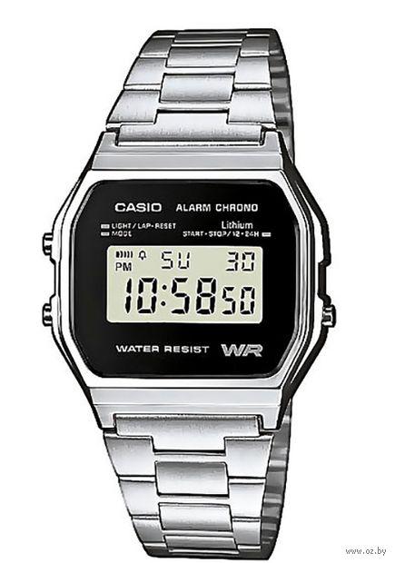 Часы наручные (серебристые; арт. A158WEA-1EF) — фото, картинка