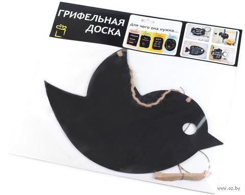 "Доска грифельная декоративная ""Птичка"" (380х250 мм) — фото, картинка"