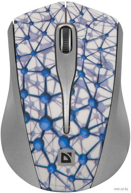 Мышь беспроводная Defender StreetArt MS-305 Nano (белая) — фото, картинка