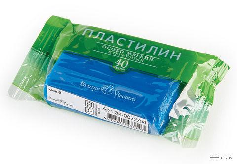 Пластилин особо мягкий кукурузный (40 г; синий) — фото, картинка