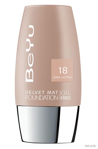 """Тональный крем для лица """"Velvet Mat Foundation"""" тон: 18, honey chiffon — фото, картинка"""