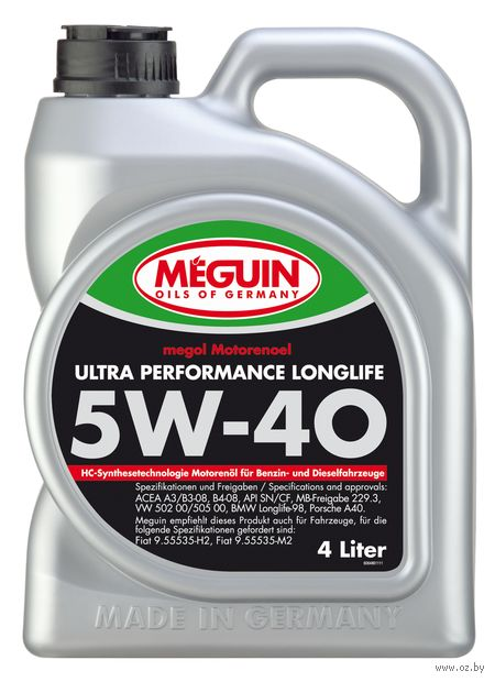 "Масло моторное ""Megol Ultra Performance Longlife"" 5W-40 (4 л) — фото, картинка"