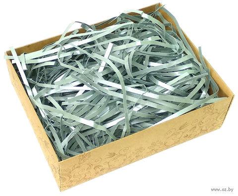 Стружка бумажная (серебряная; 100 г) — фото, картинка