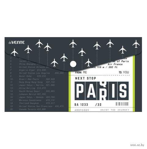 """Папка-конверт """"Next Stop Is Paris"""" (260х140 мм) — фото, картинка"""