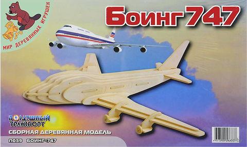 """Сборная деревянная модель """"Боинг 747"""""""
