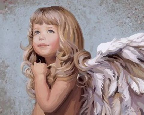 """Картина по номерам """"Белокурый ангел"""" (400x500 мм; арт. MG338) — фото, картинка"""