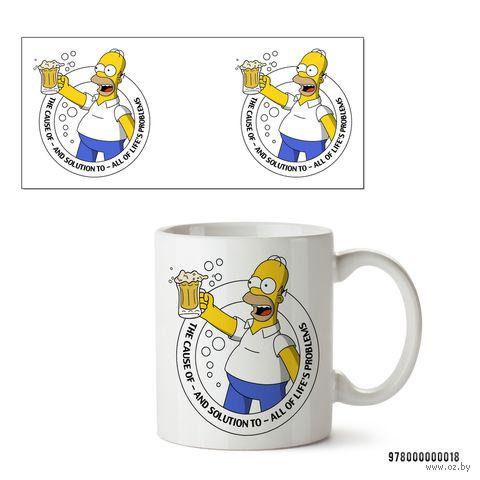 "Кружка ""Симпсоны"" (белая; арт. 018) — фото, картинка"