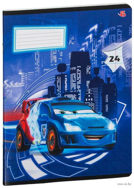 "Тетрадь в линейку ""Cars"" 24 листа"