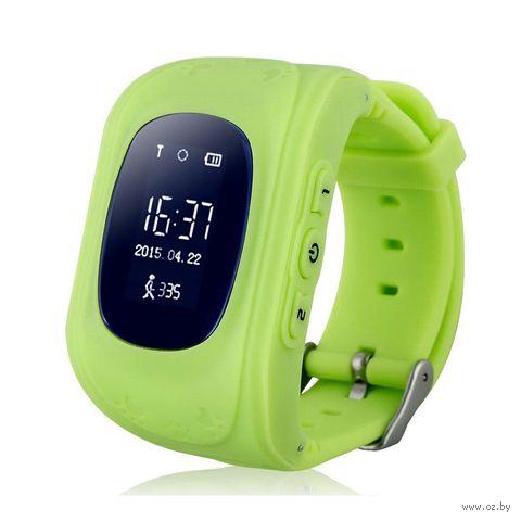 Детские часы SmartBabyWatch Q50 (зеленые) — фото, картинка