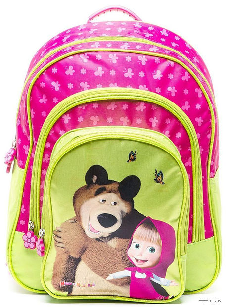 """Рюкзак школьный """"Маша и Медведь. Бабочки"""""""