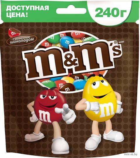 """Драже """"M&M's. С молочным шоколадом"""" (240 г) — фото, картинка"""