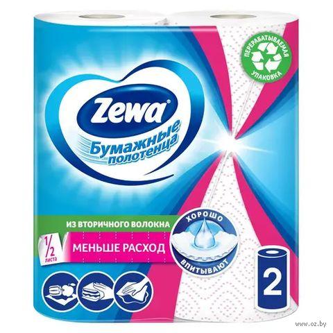 """Бумажные полотенца """"Декор"""" (2 рулона; бело-розовые)"""