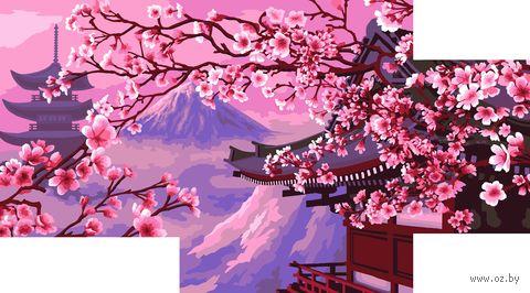 "Картина по номерам ""Горная сакура"" (200х300 мм; 300х400 мм; 400х500 мм) — фото, картинка"