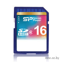 Карта памяти SDHC 16Gb Silicon Power Class 6