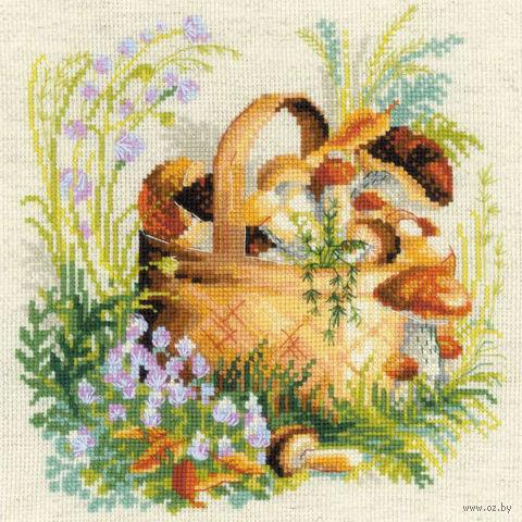 """Вышивка крестом """"Грибное лукошко"""" (арт. 1363)"""