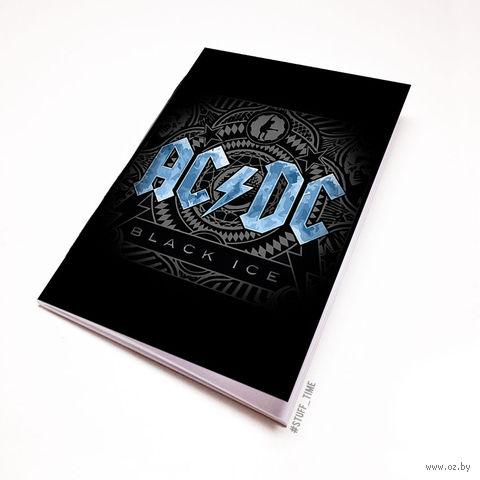 "Блокнот белый ""AC/DC"" А6 (441)"