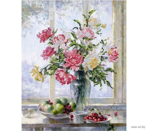 """Канва с нанесенным рисунком """"Цветы и фрукты"""""""