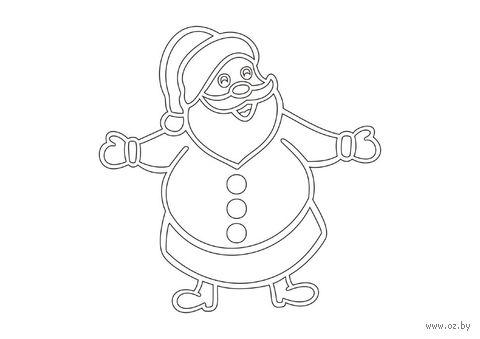 """Трафарет для рисования песком """"Дед Мороз"""" (А5)"""