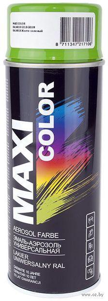 """Эмаль аэрозольная """"Maxi Color"""" (ярко-зеленая) — фото, картинка"""