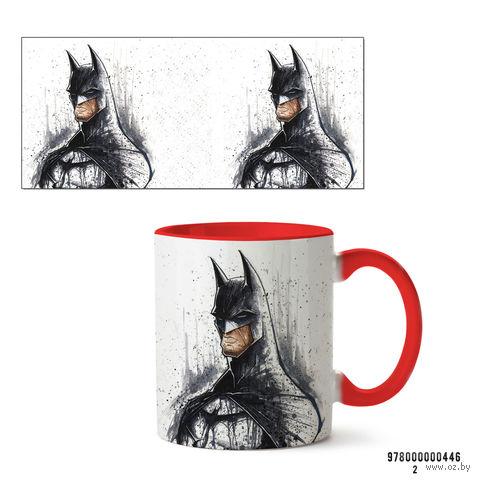"""Кружка """"Бэтмен из вселенной DC"""" (446, красная)"""