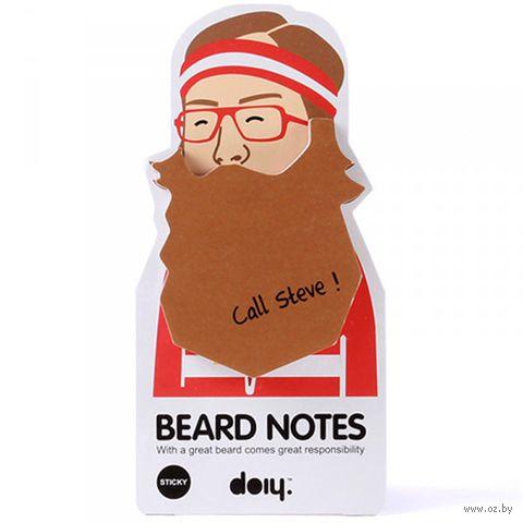 "Блок для записей ""Beard"" (коричневый)"