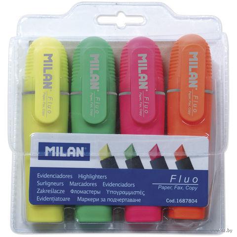 """Набор маркеров текстовыделителей """"Fluo"""" (4 цвета, 5 мм)"""