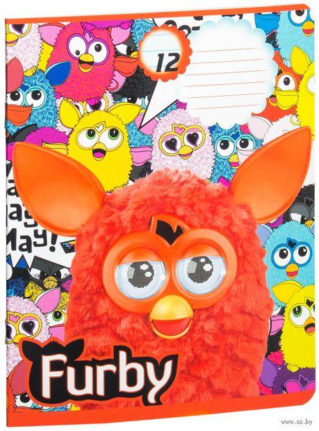 """Тетрадь в линейку """"Furby"""" 12 листов"""