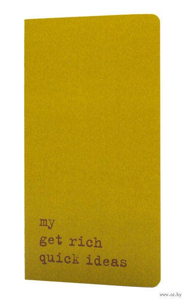 "Записная книжка в линейку ""Chapter. My Get Rich Quick Ideas"" (95х180 мм; зеленая) — фото, картинка"
