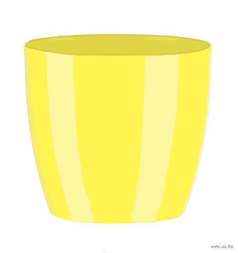 """Цветочный горшок """"Ага"""" (9,5 см; желтый) — фото, картинка"""