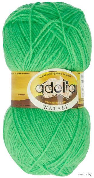"Пряжа ""Adelia. Natali №15"" (50 г; 300 м; светло-зелёный) — фото, картинка"