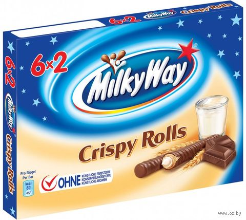 """Трубочки вафельные """"Milky Way. Crispy Rolls"""" (150 г) — фото, картинка"""